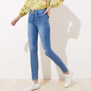 LOFT High Rise Skinny Jeans